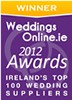 Award For Top Wedding Suppliers - Weddings Online 2012
