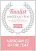 Finalist For Musician Of The Year - Weddings Online 2016
